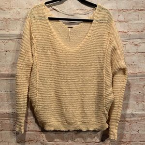 Free people pullover sweater sz S peach oversized